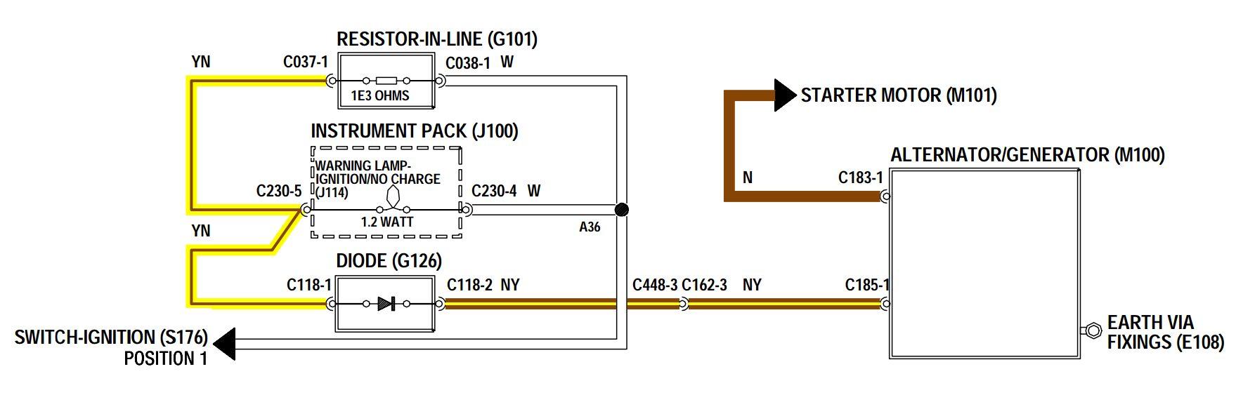 DEFENDER2 NET - View topic - Alternator exciter wire