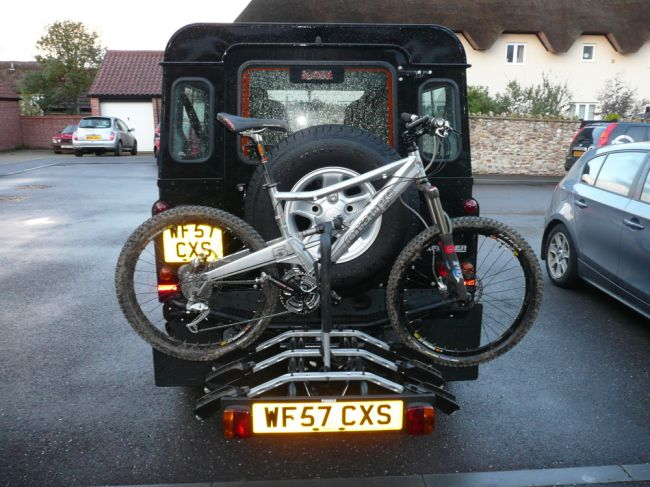 front rover bicycle tried landrover watch bumper series on bike rack hqdefault mount of to land