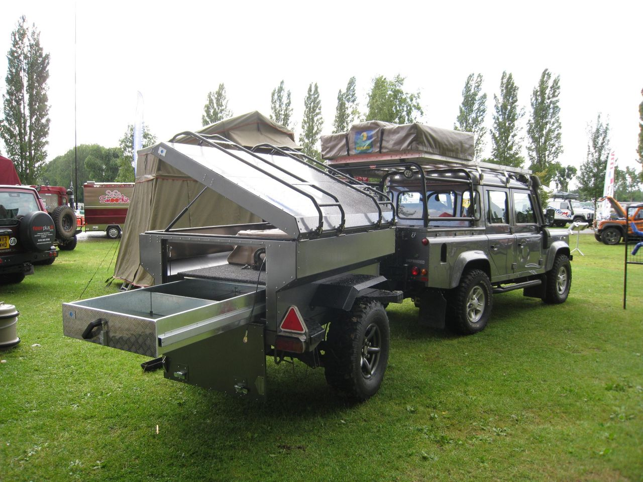 New I Need One Of These Sportsmobile Custom Camper Vans  Cover It With Fish Decals And Put A  Maybe By Nene Valley Landrover Specialists In The UK Landrover Defender With A Tent On Top! This Might Be A Nene Company Setup As They