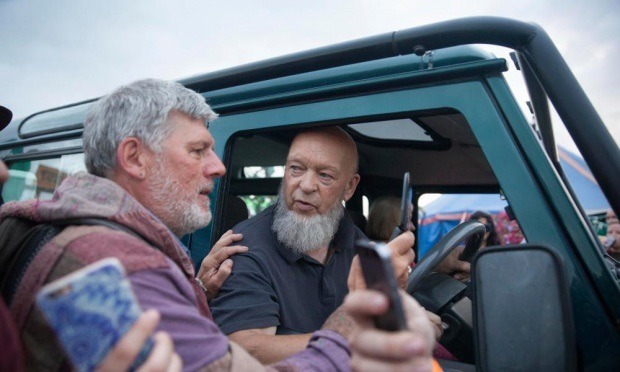 defender2 net view topic michael eavis drives a 50th. Black Bedroom Furniture Sets. Home Design Ideas