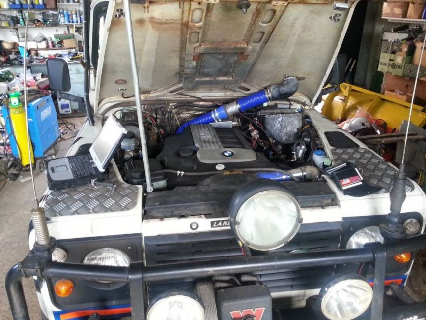 DEFENDER2 NET - View topic - Bmw 3 0 M57 engine into defender